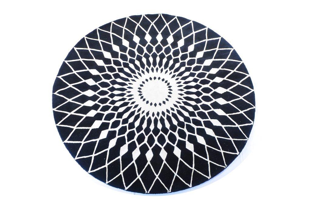 Contemporary Designer Round Carpet K13484 Nasimcarpet