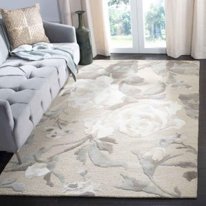 Martha Stewart Rug Bedford Grey MSR4717B Rose Chintz