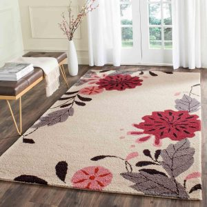 Martha Stewart Rug Ivory MSR4871A Picture Book Floral