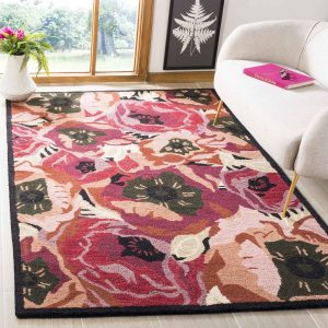 Martha Stewart Rug Red MSR4872A Poppy