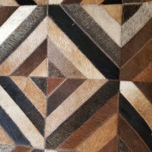 Designer Leather Rug-Natural Cowhide 5'x8′