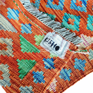 Afghan tribal killim rug -K15110